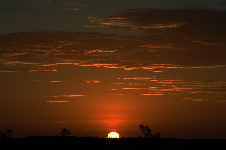 Sun rise Australia